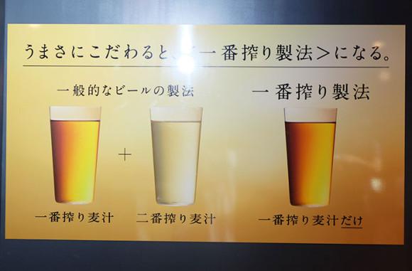 キリンビール横浜工場見学一番搾り麦汁と二番搾り麦汁