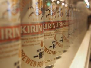 キリンビール横浜工場見学缶ずらり