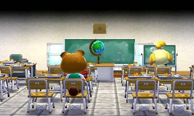 ハピ森学校で地球儀を眺める