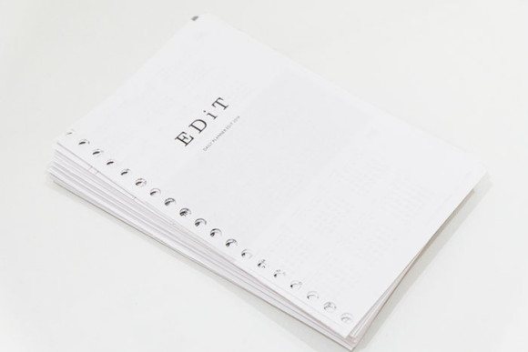 ルーズリーフ化されたedit手帳