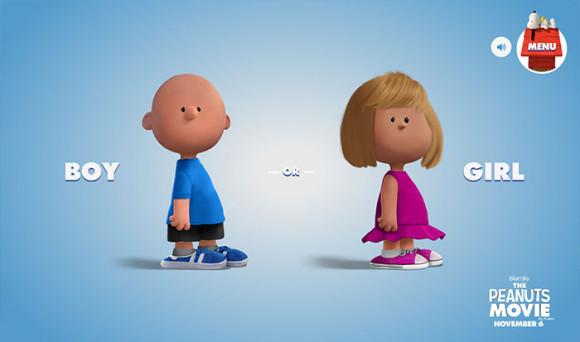 スヌーピーピーナッツ風のキャラクターが作れる「Get Peanutized」男女性別選択