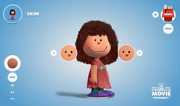 スヌーピーピーナッツ風のキャラクターが作れる「Get Peanutized」顔の色選択