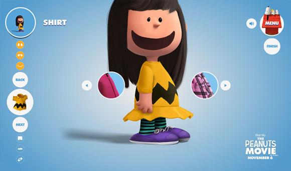 スヌーピーピーナッツ風のキャラクターが作れる「Get Peanutized」チャーリーブラウンの服