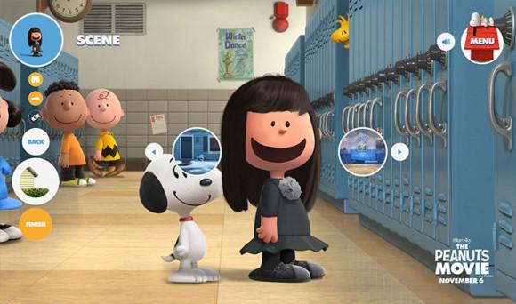 スヌーピーピーナッツ風のキャラクターが作れる「Get Peanutized」背景にスヌーピー