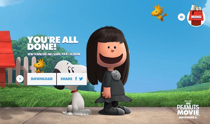 スヌーピーピーナッツ風のキャラクターが作れる「Get Peanutized」背景が決まれば画像GET