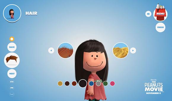 スヌーピーピーナッツ風のキャラクターが作れる「Get Peanutized」色合い選択