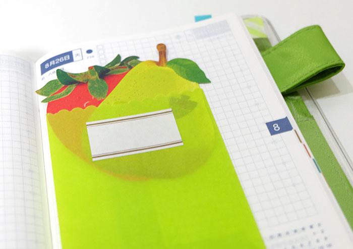 手帳の使い方封筒の中に好きなDMやカードを入れる完成!