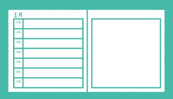 手帳の種類「週間レフトタイプ」