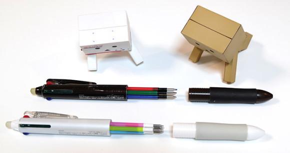 フリクションボール4カスタマイズ2本のペン比較
