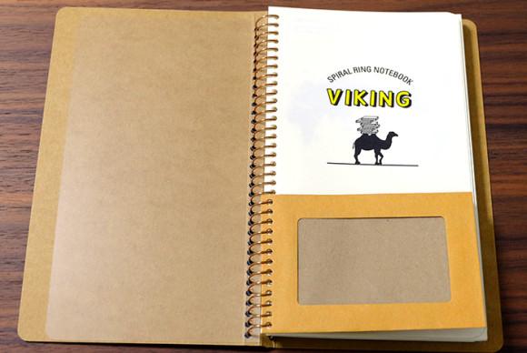スパイラルリングノートバイキング1冊目ミツバチポケットと表紙