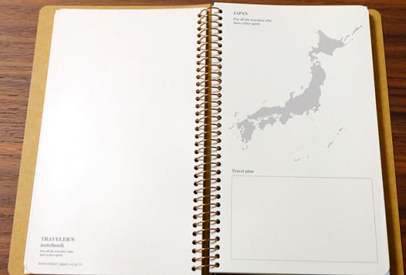 スパイラルリングノートバイキング日本地図