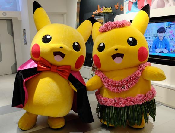 ポケモンセンターハロウィンでマントピカチュウ&フラダンスピカチュー