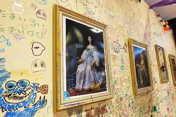 ぺんてる「GINZA RAKUGAKI Cafe & Bar by Pentel」壁の落書き