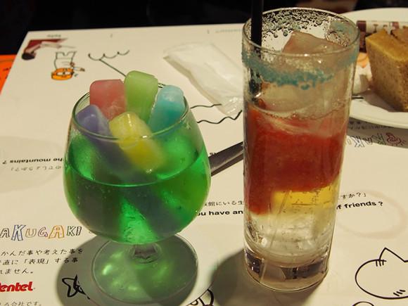 ぺんてる「GINZA RAKUGAKI Cafe & Bar by Pentel」5色セットクーラーとアートブラッシュリング