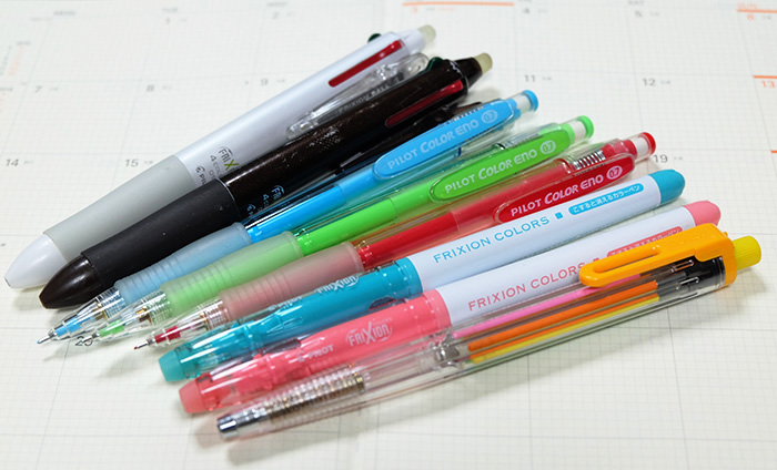 手帳にイラストを描くのにおすすめのカラーペン