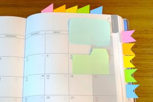 手帳やノートに使える付箋簡単アレンジ術!使いやすいく可愛いふせん