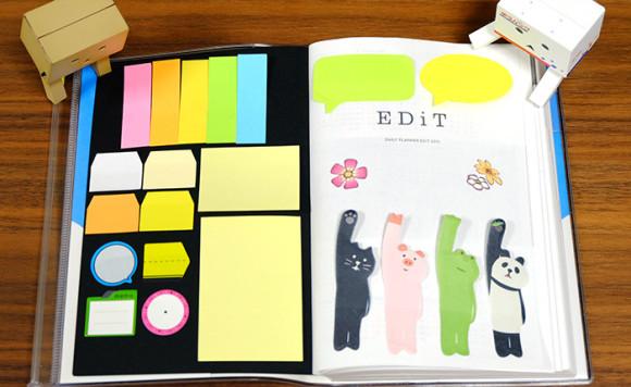 ほぼ日手帳やEDiT手帳で簡単にできる付箋の収納術!EDiT手帳の表紙を使う