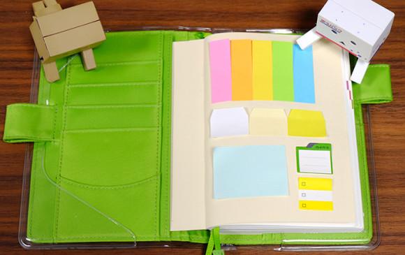 ほぼ日手帳やEDiT手帳で簡単にできる付箋の収納術!ほぼ日手帳の表紙の