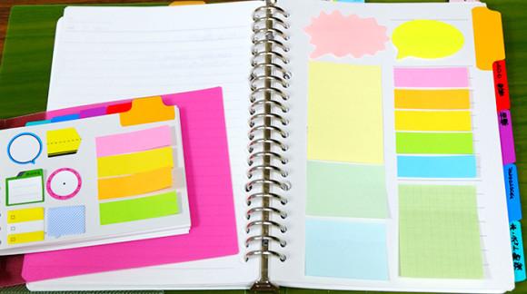 ほぼ日手帳やEDiT手帳で簡単にできる付箋の収納術!ルーズリーフのインデックスを利用