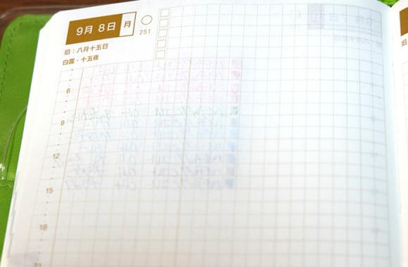 ほぼ日手帳カラーペン裏移り比較ハイテックCコレト