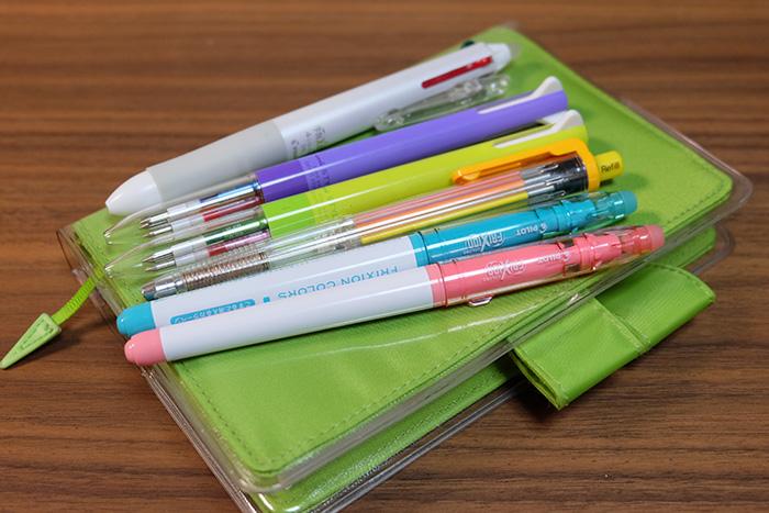 ほぼ日手帳カラーペン裏移り比較