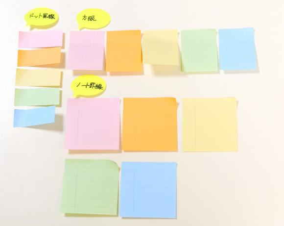 どこからでも使えるエイチ・エスのマルチに使えるふせん!3種類のフォーマットと5種類のカラー