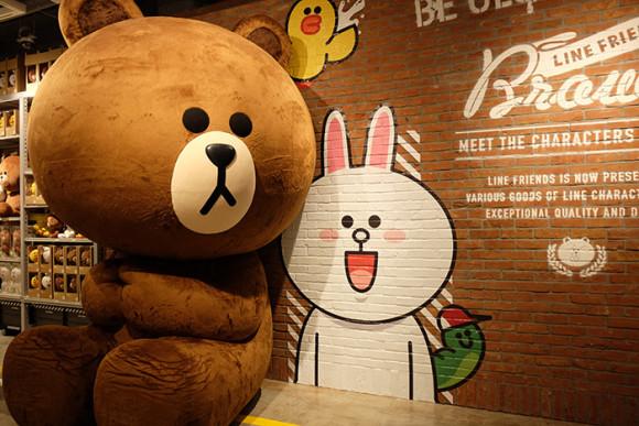 LINE STORE仙台店巨大ブラウン