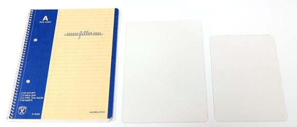 手帳ノートの下敷比較!ノート&透明下敷