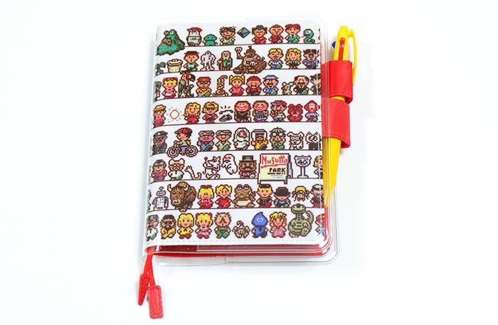 ほぼ日手帳2016!MOTHER2のキャラクター勢ぞろいの「CAST」カバーオンカバー装着