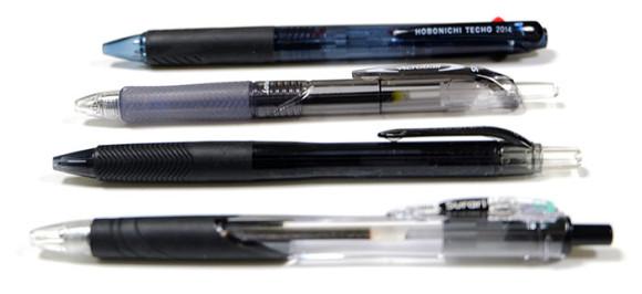 四大油性ボールペンの書き心地を比較してみた