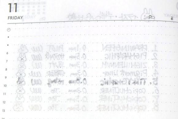 Edit手帳(エディット)とペンの相性比較!イラスト・グラフィック・デザインペン比較
