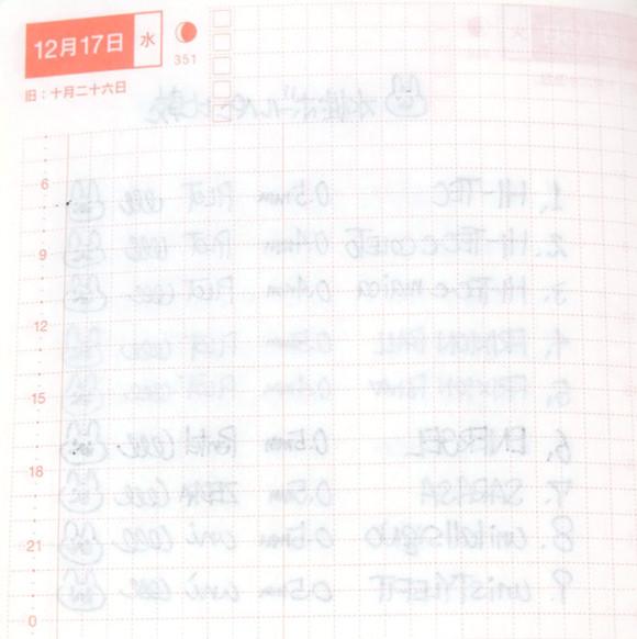 ほぼ日手帳とペンの相性比較!水性ボールペン裏移り