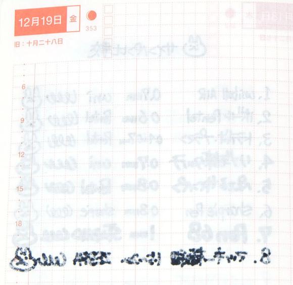 ほぼ日手帳とペンの相性比較!サインペン比較