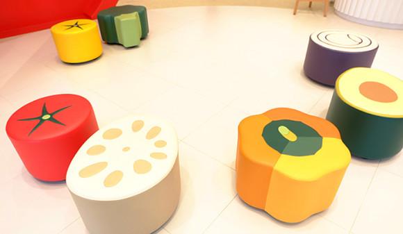 キューピー「マヨテラス」野菜の椅子