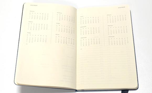 moleskine(モレスキン)4月始まり日本語ダイアリー年間カレンダー