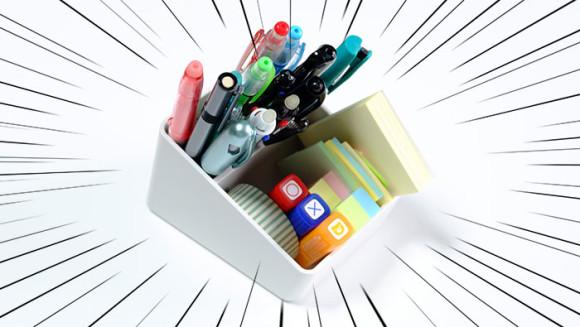 無印良品ABS樹脂 ペン・小物スタンド1/8 ペン・付箋とか入れる