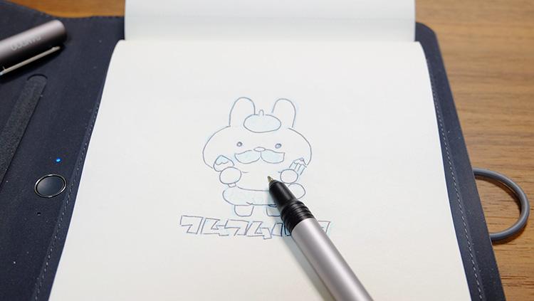 ワコムのbamboosparkで描けるか実験してみた!ペンでなぞる