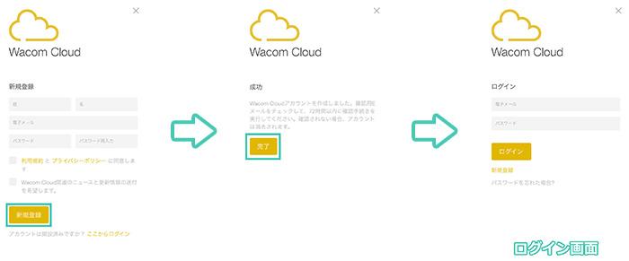 BambooSparkアプリの初期設定WacomCloud