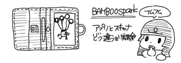 Bamboo Sparkで取り込んだ場合
