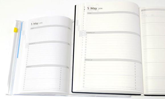 大きいA5サイズのEDiT手帳(エディット)月間プランニングページ