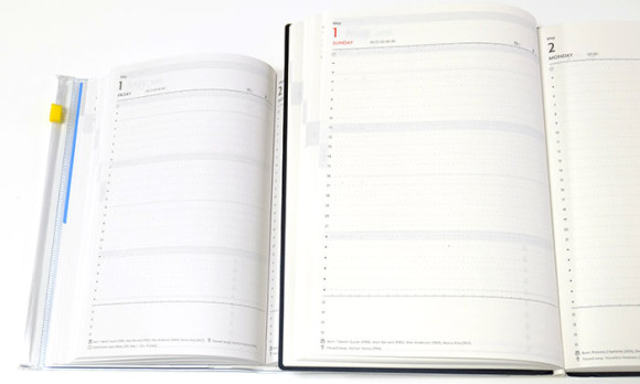 大きいA5サイズのEDiT手帳(エディット)1日1ページ比較