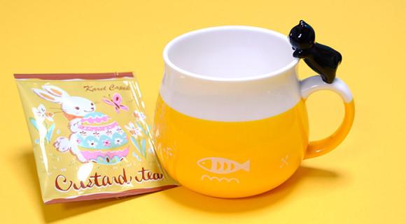 可愛い猫のマグカップ「デコレニャコット」紅茶