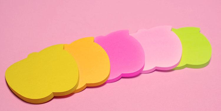 りんごの形の可愛い付箋ポスト・イットノート色は5色