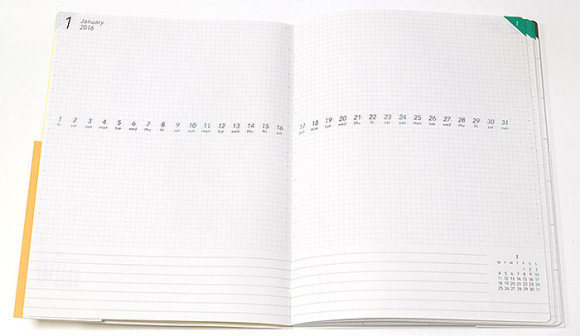新フォーマットの手帳 VISUALIFE(ビジュアライフ)特徴的なマンスリー