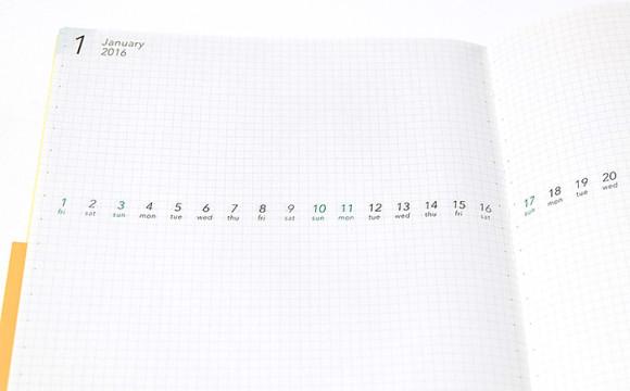 新フォーマットの手帳 VISUALIFE(ビジュアライフ)予定をラフに描ける