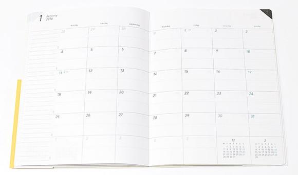 新フォーマットの手帳 VISUALIFE(ビジュアライフ)月間ブロック