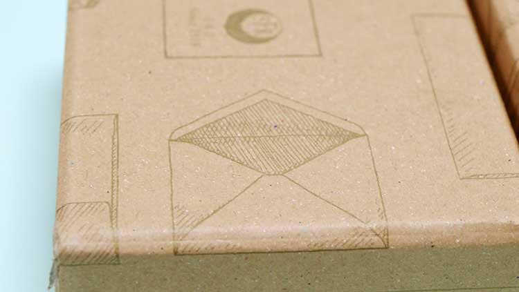 ハグルマ封筒さんの名刺箱手書き風のデザインかわいい