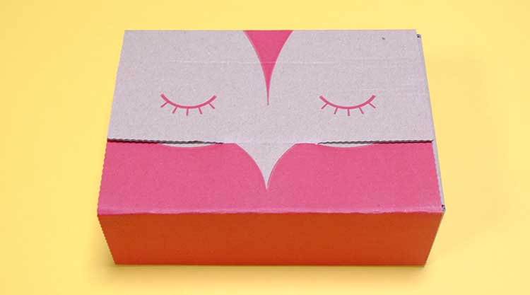 ハグルマ封筒さんの0円ペーパーフクロウ柄