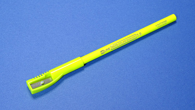 クツワ鉛筆削り付き蛍光ペン「鉛筆の蛍光マーカー」