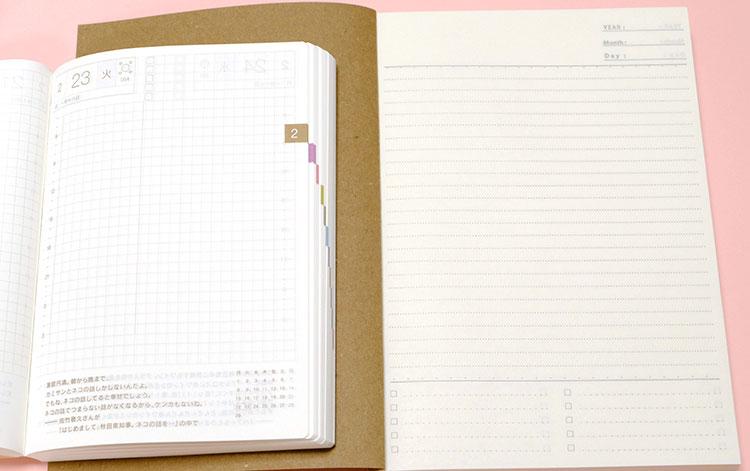 セリアの「368ノート」ほぼ日手帳と比較 中身